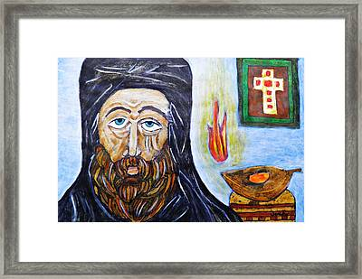 Monk 2 Framed Print by Sarah Loft