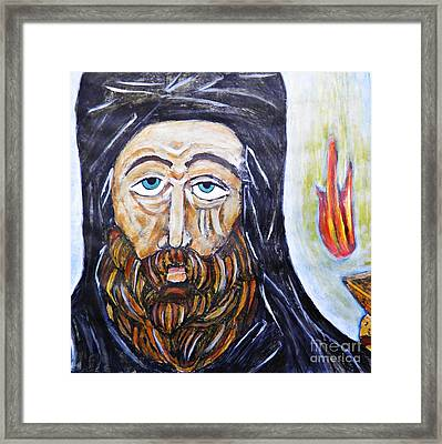 Monk 3 Framed Print by Sarah Loft