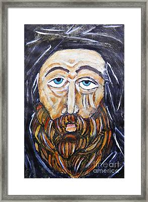 Monk 4 Framed Print by Sarah Loft