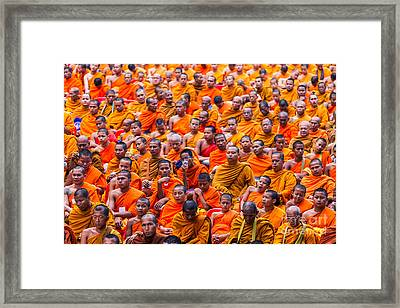 Monk Mass Alms Giving Framed Print