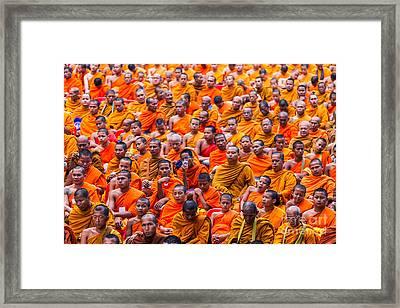 Monk Mass Alms Giving Framed Print by Fototrav Print