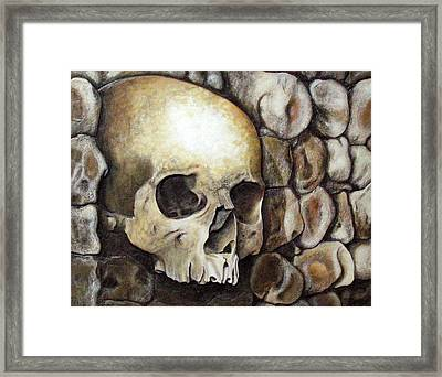 Monk Relic Framed Print by Elaine Booth-Kallweit