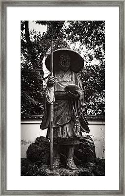 Monk Statuary - Chishakuin Temple -  Kyoto Framed Print by Daniel Hagerman