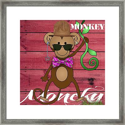 Monkey Business Collection Framed Print