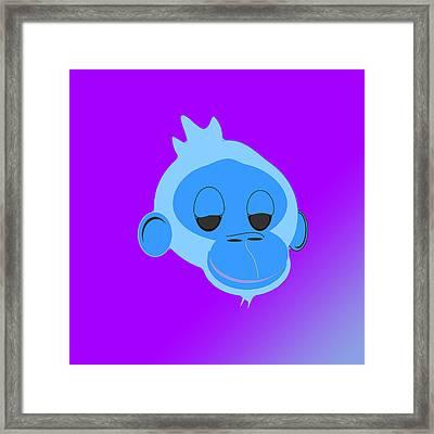 Monkey Dazed Framed Print