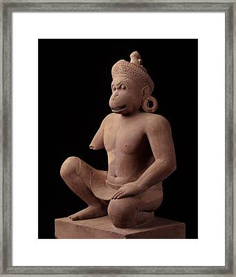 Monkey Guardian Figurebantaey Srei, 967 Adnational Museum, Phnom Penh Framed Print