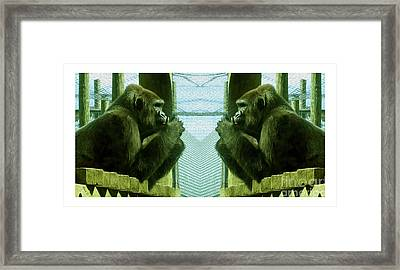Monkey See Monkey Do Framed Print