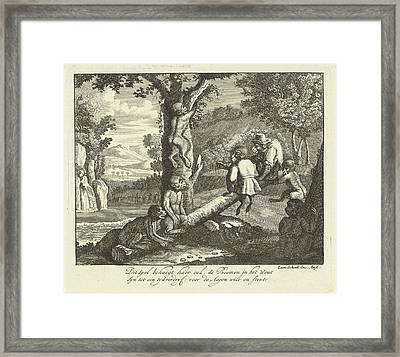 Monkeys On The Seesaw And In The Tree, Leonard Schenk Framed Print by Quint Lox