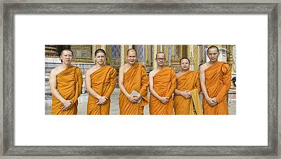 Monks At The Grand Palace Framed Print