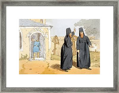Monks, C.1804 Framed Print by John Augustus Atkinson