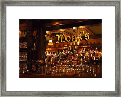Monks Cafe Framed Print by Rona Black