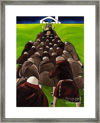 Monks Funeral Framed Print by William Cain