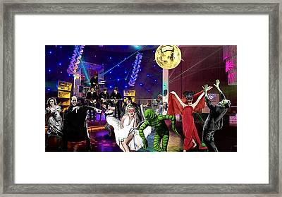 Monster Party Framed Print by Jack Joya