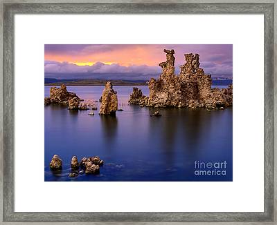 Mono Lake Afterglow Framed Print by Inge Johnsson