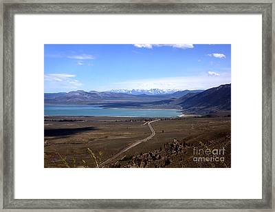 Framed Print featuring the photograph Mono Lake And The Sierra Nevada by Thomas Bomstad