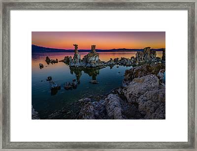 Mono Lake California Sunrise Framed Print