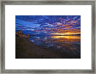 Mono Lake Sunrise Framed Print by Priscilla Burgers