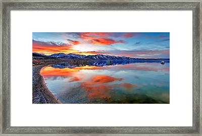 Mono Lake Sunset 3 Framed Print