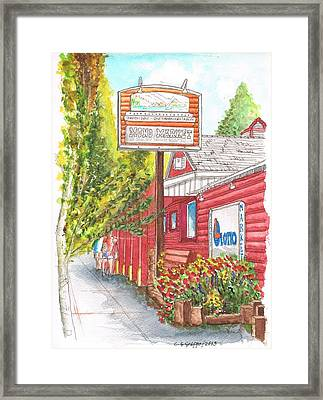 Mono Market Near Mono Lake In Lee Vining-california Framed Print