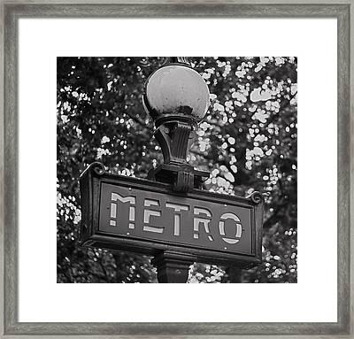Mono Metro - Paris Art Framed Print