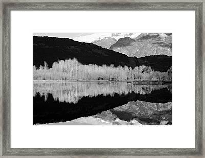 Mono One Mile Lake Framed Print