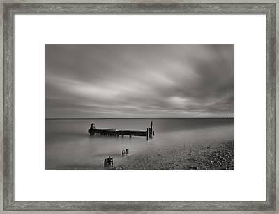 Mono Reculver Bay Framed Print