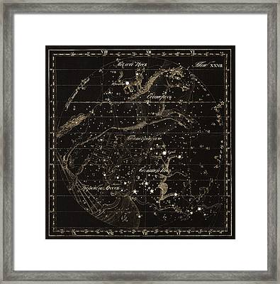 Monoceros Constellations, 1829 Framed Print by Science Photo Library