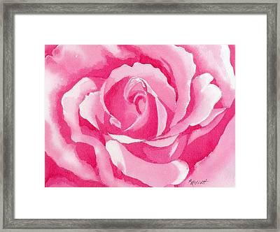 Monochromatic Rose Framed Print by Marsha Elliott