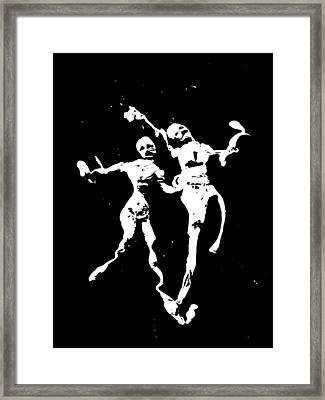 Monochrome Damnation 1 Framed Print by Jessica-Faye Watters