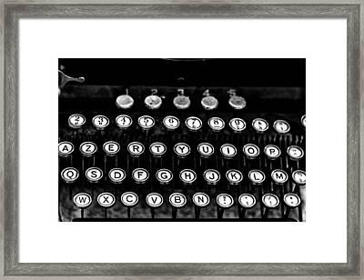 Monochrome Keys Framed Print by Georgia Fowler