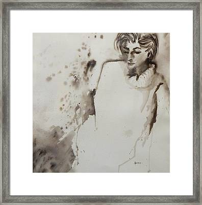 Monochrome Lady Framed Print