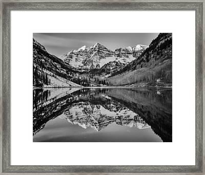 Monochrome Maroon Framed Print