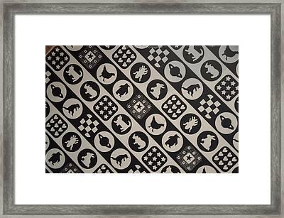 Monochrome Mosaic Framed Print by Sonali Gangane
