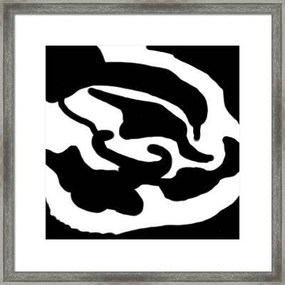 Monochrome New1builder3 Glyph 1 Framed Print
