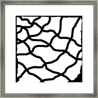 Monochrome New1builder3 Glyph 11 Framed Print