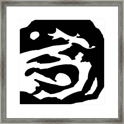 Monochrome New1builder3 Glyph 2 Framed Print
