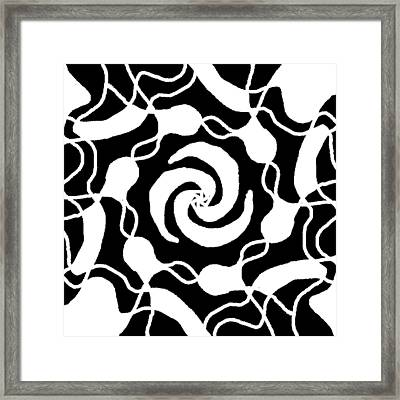 Monochrome New1builder3 Glyph 3 Framed Print