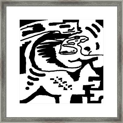 Monochrome New1builder3 Glyph 4 Framed Print