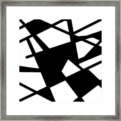 Monochrome New1builder3 Glyph 5 Framed Print