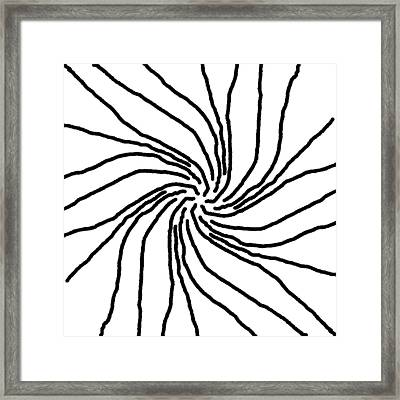 Monochrome New1builder3 Glyph 6 Framed Print