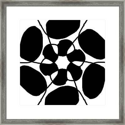 Monochrome New1builder3 Glyph 7 Framed Print
