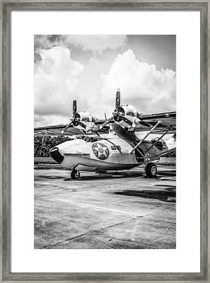 Monochrome Pby5a Framed Print