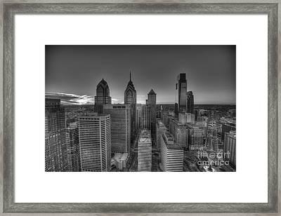 Monochrome Philadelphia Framed Print