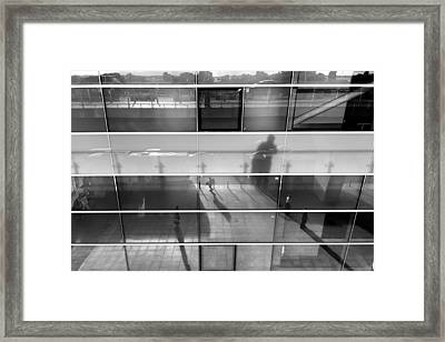 Monochrome Reflection Framed Print