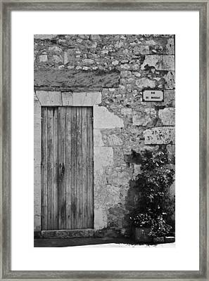 Monochrome Vintage Door Framed Print by Georgia Fowler