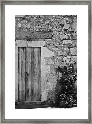 Monochrome Vintage Door Framed Print