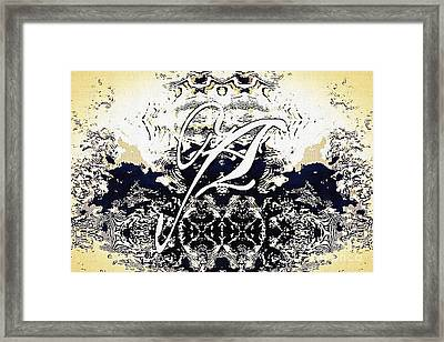 Monogram A - 0 - 11 Framed Print
