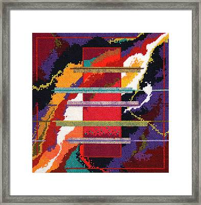 Monolith 2001 Space Odyssey Framed Print by Connie Pickering Stover