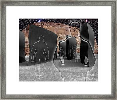 Monoliths For The Empty People Framed Print by Keith Dillon