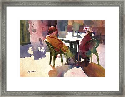 Monologue Framed Print by Kris Parins